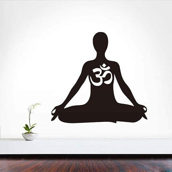 Meditación Tatuajes De Pared Om Pegatina Arte Decoración ...