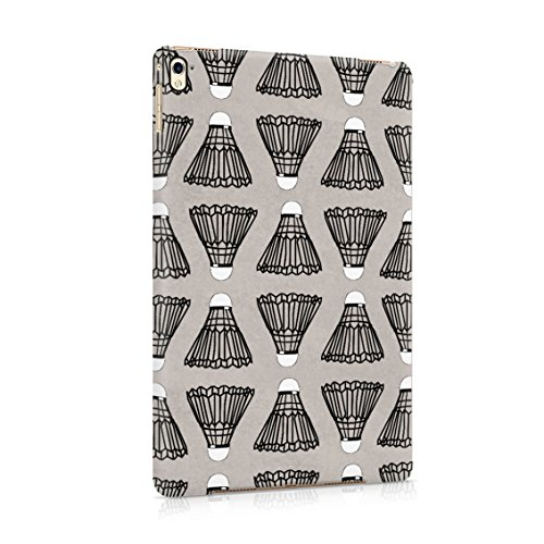 (Indoor Outdoor Badminton Shuttlecock Birdie Pattern Plastic Tablet Snap On Back Case Cover Shell For iPad Pro 9.7)