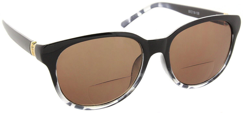 ab77eb35b0c0 Amazon.com  Womens Bifocal Sunglass Reader Fashion Trendy Reading Glasses   Black Leopard