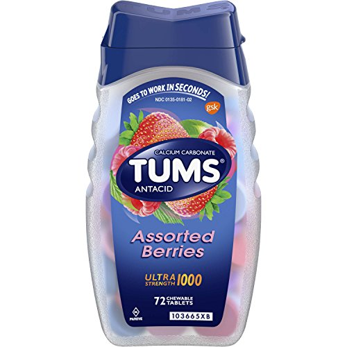 TUMS Antacid Ultra Strength 1000 Assorted Berries Chewable T