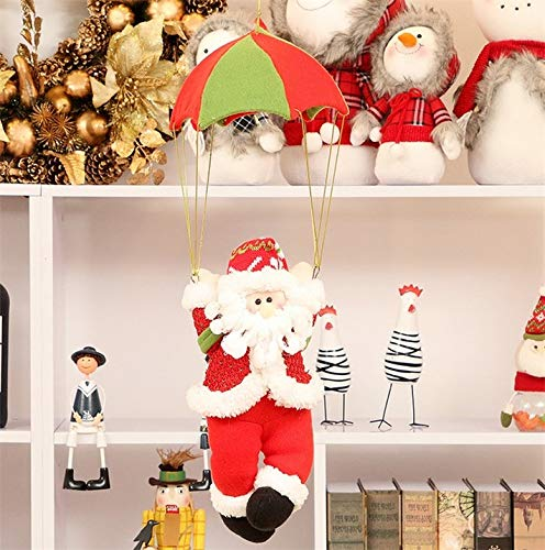 - YChoice Beautiful Home Harvest Decoration Santa Claus Parachute Christmas Ornament Home Xmas Tree Doll Pendant Decor (Size : 30105cm)