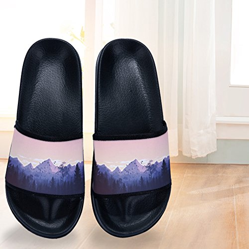 Sky Slip Slippers amp; Womens Non Quick Summer Beautiful Scenery Black Drying Slippers Mountain for Wv1qB6HB