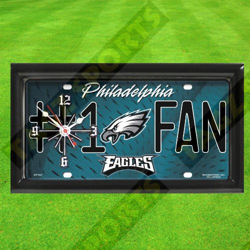 PHILADELPHIA EAGLES WALL CLOCK - BY TAGZ SPORTS for sale  Delivered anywhere in USA
