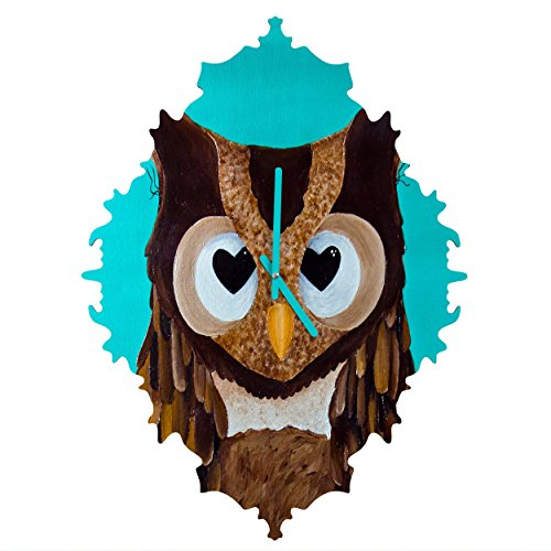 Deny Designs  Mandy Hazell, Owl Love You, Baroque Clock, Medium by Deny Designs