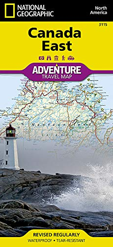Canada East (National Geographic Adventure Map) (Atlantic Canada Road Atlas)