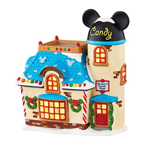 Mickey Mouse Christmas Figurine - Department 56 Disney Village Mickey's Candy Shop Figurine
