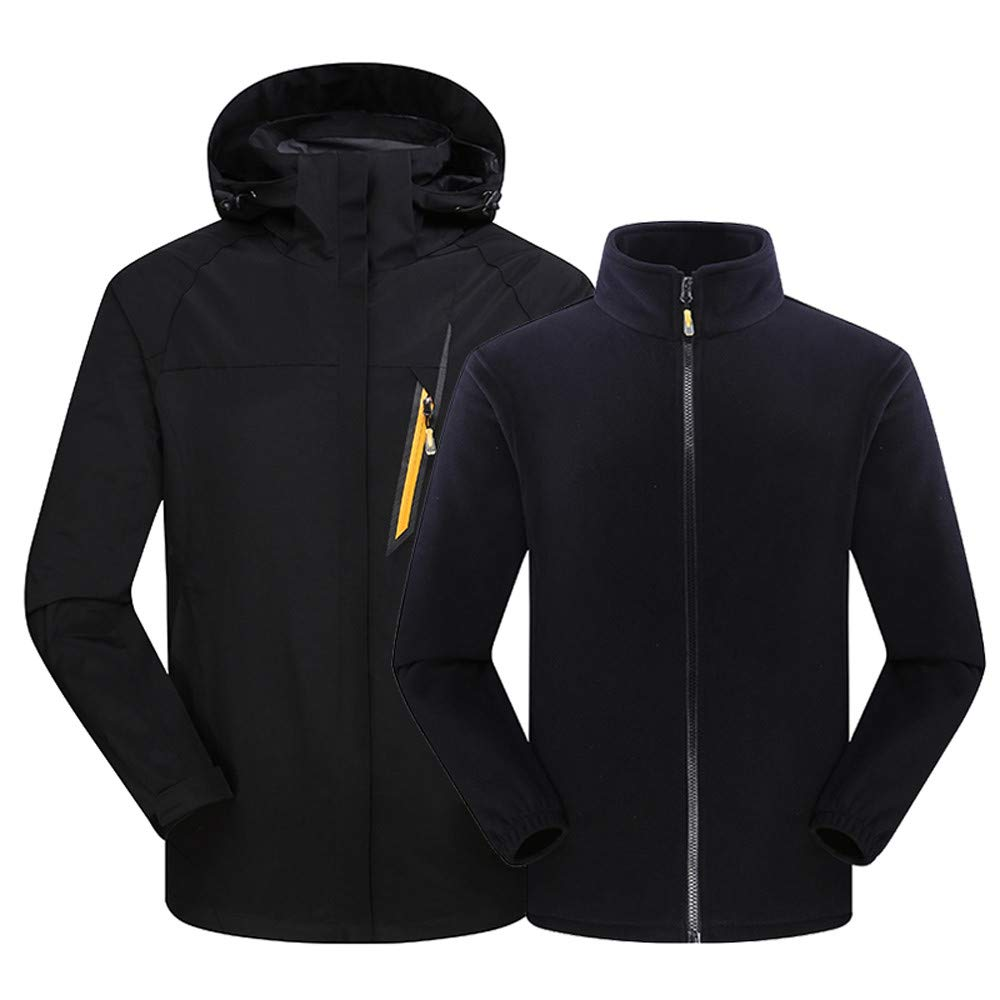 Hoodies for Men with Designs.Men's Outdoor Outfit Two Piece Three in One Warm Waterproof Breathable Coat