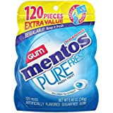 Mentos Pure Fresh Sugar-Free Chewing Gum with Xylitol, Fresh Mint, 120 Piece Bulk Resealable Bag (Pack of 4)