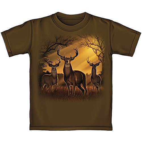 Deer Herd Sunrise Youth Tee Shirt (Small 6-7)