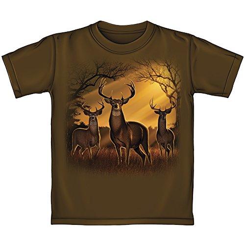Deer Herd in Sunrise Adult Tee Shirt (XX-Large) -