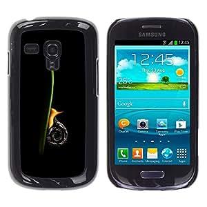TopCaseStore / la caja del caucho duro de la cubierta de protección de la piel - Snail Vertical - Samsung Galaxy S3 MINI NOT REGULAR! I8190 I8190N