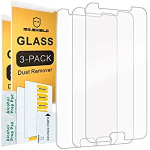 """[3-PACK]- Mr Shield For Samsung """"Galaxy J7 Prime"""" [Tempered Glass] Screen Protector [Japan Glass With 9H Hardness] with Lifetime Replacement Warranty"""