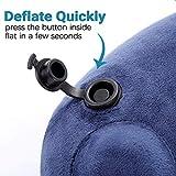 Metene Travel Pillow Soft Velvet Inflatable Neck