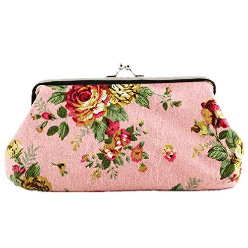 TOMATO-smile - Bolso mochila  de poliuretano para mujer beige Diseño 4 Rose rosa