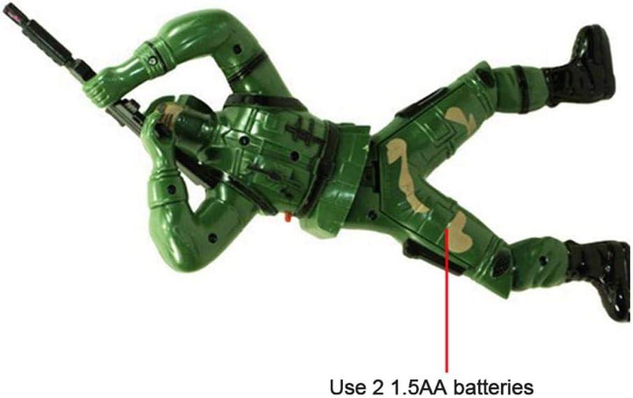 bater/ía No Incluida Juguetes de Sonido con Luz LED Simulaci/ón de Escalada Soldados Ligeros FOONEE Juguete de Soldado Gateando Bater/ía Operado Juguete