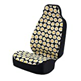 yellow and black car seat covers - Coverking Universal Fit 50/50 Bucket Flower Fashion Print Seat Cover - Daisy Crazy (Yellow and White Daisies with Black Background)