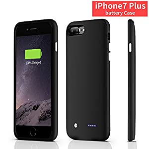 iphone 7plus battery case,CHYING iPhone Portable Charger iPhone 7 plus (5.5 inch) 4880mAh Extended Battery Pack Power Cases (Build-in Magnet Design) [Black]