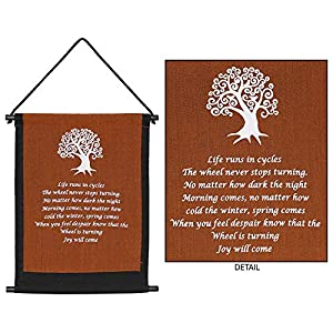 4Rissa Tree of Life Banner Celtic Prayer Tapestry Inspirational Quote Yoga Studio Hanging Wall Art