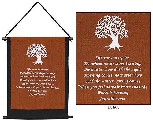 (4Rissa Tree of Life Banner Celtic Prayer Tapestry Inspirational Quote Yoga Studio Hanging Wall Art)