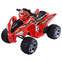 Red Kids Ride On 12V Quad 4 Wheel Power Electric ATV Car LED Lights Remote Control