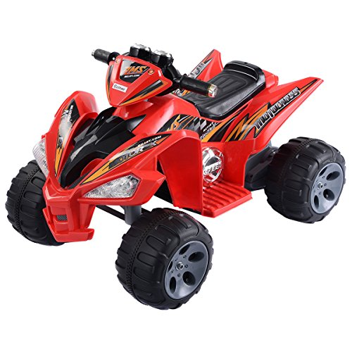 Quality Toys - Kids ATV Quad 4 Wheeler - Childrens Electric Powered Bike - Electric Toy Car 12V Battery Power LED Lights - Ride For Kid - Four Power Wheel