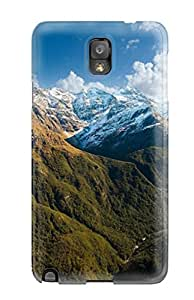 New Premium Angenry Earth Mountain Skin Case Cover Excellent Fitted For Galaxy Note 3