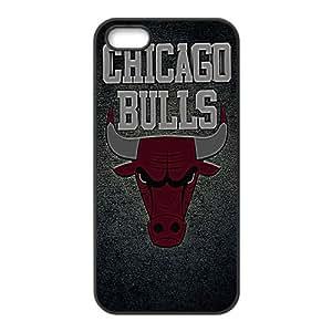 Chicago Bulls NBA Black Phone Case for iPhone 5S Case