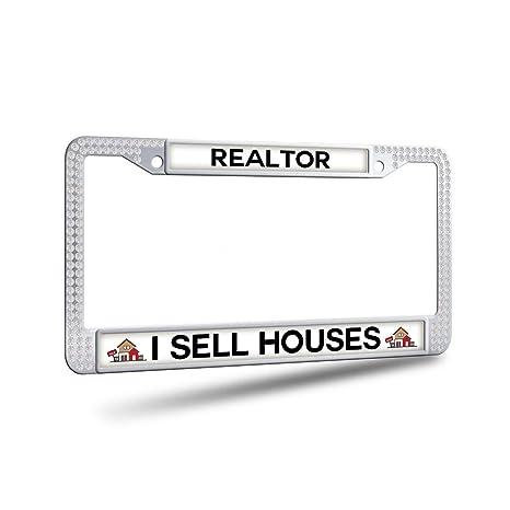 Amazon.com: JiuzFrames Realtor I Sell Houses Black Bling ...