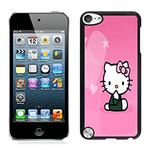 Hot Sale iPod Touch 5 Case ,Unique And Lovely Designed Hello Kitty 01 Cover Case For iPod Touch 5 Black Phone Case CR-288