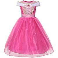 FYMNSI Kid Girls Princess Costume Halloween Party Dress Up Fancy Festival Cosplay Dress for Stage Performance and Photo Shoot