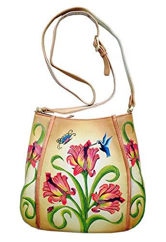 Niarvi Tulips handpainted handbag