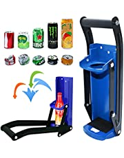 Bottle Opener 16 oz Can Crusher with Plastic Bag Holder, Aluminum Can Crushers- Eco-Friendly, Bottle Opener Wall Mounted, Heavy Duty Large Metal Wall Mounted Soda Beer Smasher Recycling Tool…