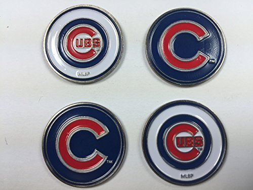 Chicago Cubs MLB Golf Ball Markers 4-Pack (Clip Cubs Mlb)