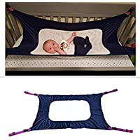 2019 Enhanced Hammock for Newborn-Baby Hammock for Crib, Adjustable Comfortable Safety Sleeping Bed Strong Durable Nursery Bed Cradles for Infant (Blue)