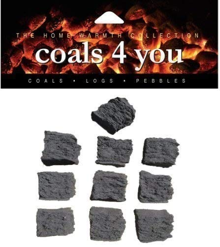 coals 4 you 10 Standard Gas Fire Replacement Coals in A Box In Packing