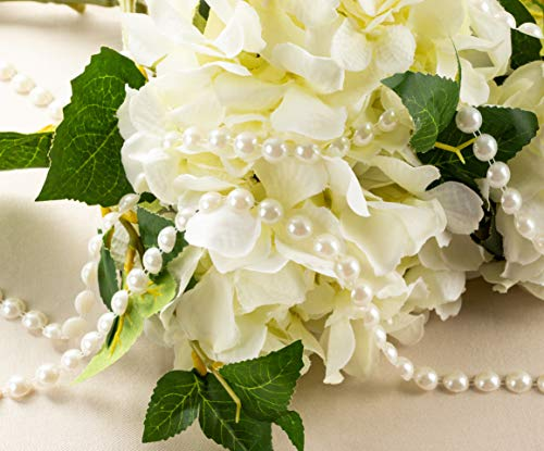 66 Yards Pearl Beaded Garland Wedding Bouquet Decor Craft on Spool Color Choice
