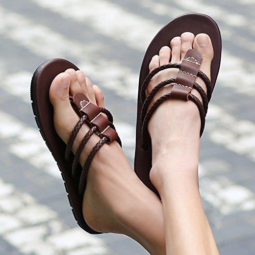 Gomma Marrone Nero Marrone dimensioni Bianco Scarpe Di QIDI Traspirante Da UK9 Sandali Pantofole EU43 Spiaggia Indossare Colore Bianca tqwE6T