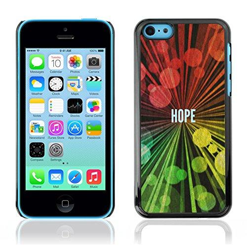 DREAMCASE Citation de Bible Coque de Protection Image Rigide Etui solide Housse T¨¦l¨¦phone Case Pour APPLE IPHONE 5C - HOPE