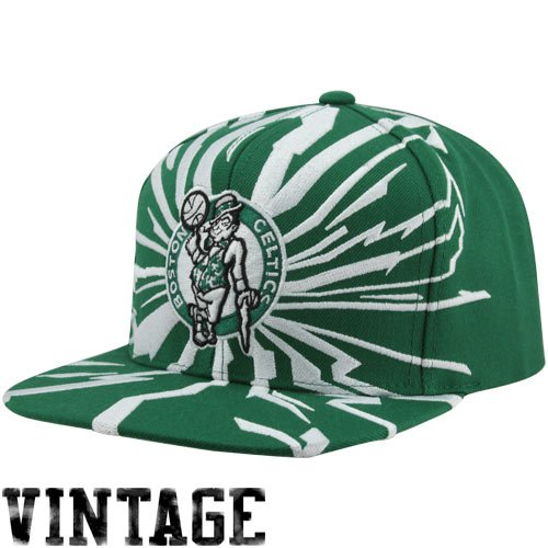 Mitchell & Ness Earthquake Boston Celtics Green & White Snapback (Celtics Snap Boston)