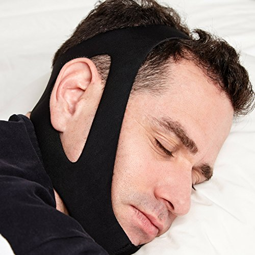 Medisnoring Snoring Remedies - Stop Snoring Chin Strap with Velcro:High Quality Anti Snoring Adjustable Chin Strap - The Best Chin Strap for snoring. Comfortable and Non invasive snoring Solution!