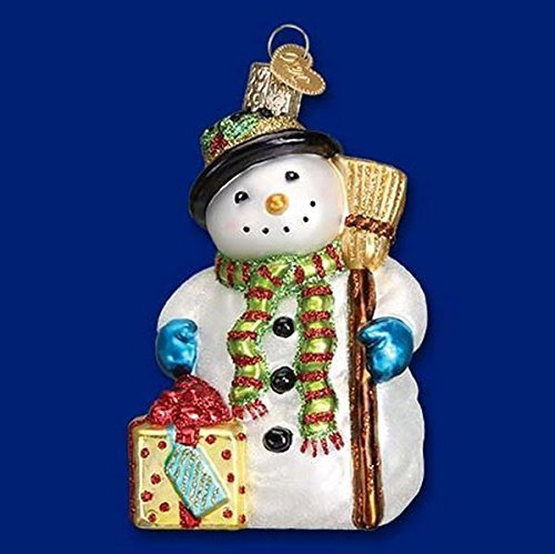 Old World Christmas Gleeful Snowman Glass Christmas Ornament 24164 FREE BOX by Old World Christmas
