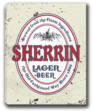 sherrin-lager-beer-stretched-canvas-sign-16-x-20