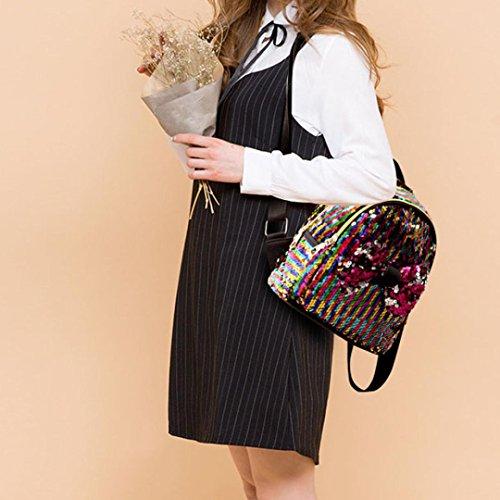 D'éCole Dos Fashion D'Arc Paillettes Bleu BandoulièRe Mode Voyage De Rose Sac Dame Satchel à Multicolore Beige Multicolore Bow Girl Tie Noir OHQ Femmes EWpqT6FIwx