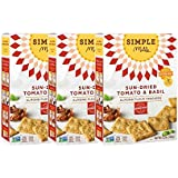 Simple Mills Naturally Gluten Free Almond Flour Crackers, Sundried Tomato & Basil, 3 Count