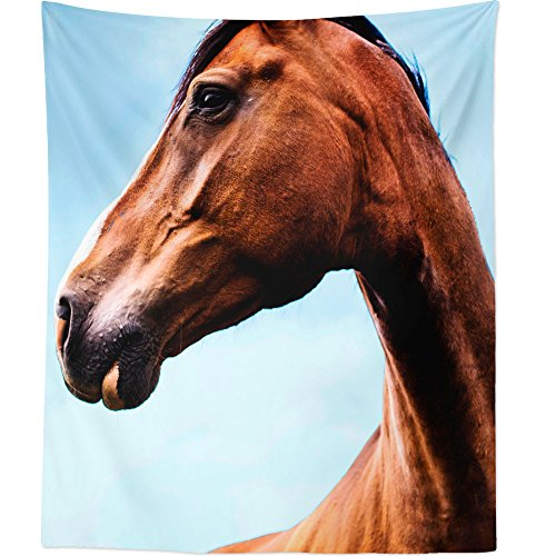 Westlake Art Wall Hanging Tapestry - Horse Wallpaper - Photography Home Decor Living Room - 68x80in (American Stable Blanket)