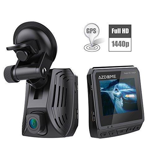 Vomach Mini Dash Cam, Super HD 1440P High Resolution video, G-Sensor, SOS Emergency Saving, ADAS, lDWS, FCWS, GPS tracking, HDMI Output etc. function Black -  DAB211