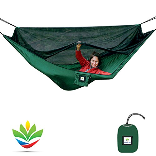Hammock Bliss No-See-Um No More – The Ultimate Bug Free Camping Hammock – 100 250 cm Rope Per Side Included – Fully Reversible – Ideal Hammock Tent For Camping, Backpacking, Kayaking Travel