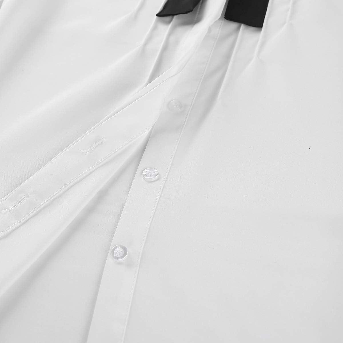 inlzdz Mujer Blusa para Primavera Otoño Camiseta Manga Larga ...
