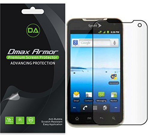 [6-Pack] Dmax Armor- LG Viper 4G LTE Screen Protector Anti-Bubble High Definition Clear Shield - Lifetime Replacements Warranty- Retail Packaging (Lg Viper Screen Protector compare prices)