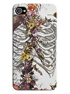 2014 High Quality iphone 4/4s Beautiful Skull Arts Case Cover For Fans LarryToliver #1
